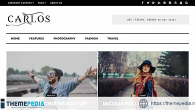 Carlos – Responsive WordPress Magazine and Blog Theme [Free download]