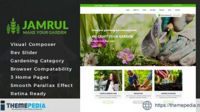 Jamrul – Landscaping WordPress Theme [Free download]