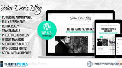 John Doe – Clean Wordpress Blog Theme [Latest Version]