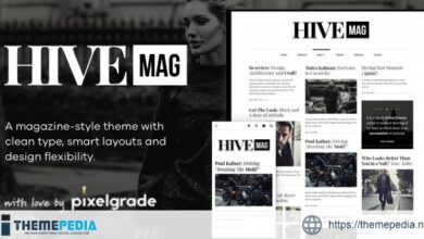 HiveMag – An Elegant WordPress Blog Theme [Free download]
