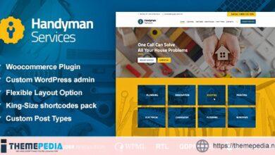 Handyman Services – Construction & Renovation WordPress Theme [Free download]
