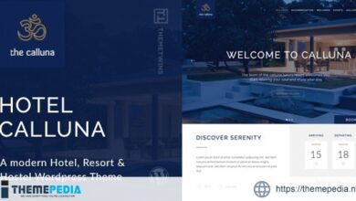 Calluna – Hotel WordPress Theme [Latest Version]