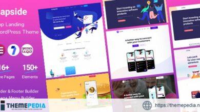 Aapside – App Landing WordPress Theme [Free download]