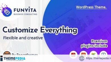 Funvita -Business Consulting WordPress Theme [Free download]