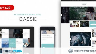 Cassie – An Inspiring Personal Blog WordPress Theme [Free download]