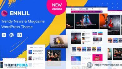 Ennlil – Modern Magazine WordPress Theme [Free download]