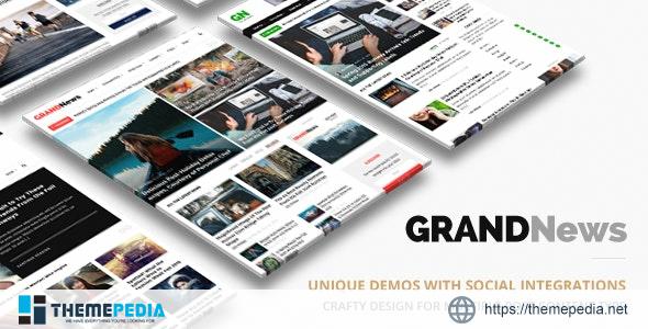 Grand News – Magazine Newspaper WordPress [Updated Version]