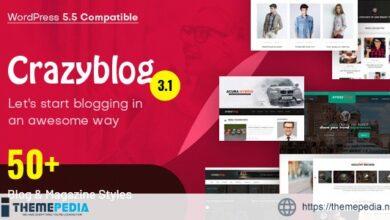 CrazyBlog – Start A Blog or Magazine for Adsense or Affiliate Business [Free download]