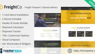 FreightCo – Transportation & Warehousing Shipping WordPress Theme [Free download]