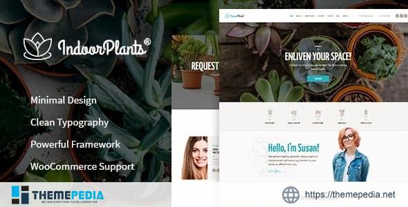 Indoor Plants – Houseplants store & Gardening WordPress Theme [Free download]