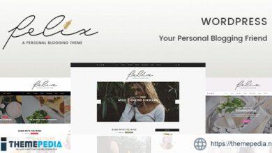 Felix – Personal Blogging WordPress Theme [Free download]