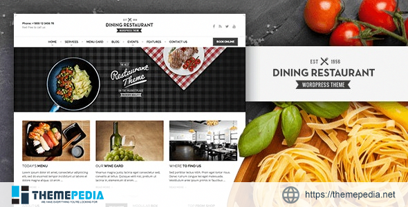 Dining Restaurant – WordPress Theme For Chefs [Free download]