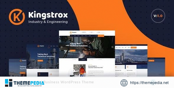 Kingstrox – Factory and Industrial Business WordPress Theme [Free download]