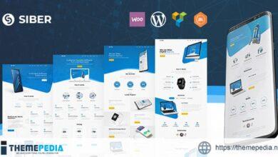 Siber – SaaS, Software & Mobile App WordPress [Free download]