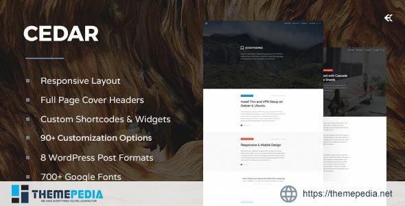 Cedar – Responsive WordPress Blog Theme [Free download]