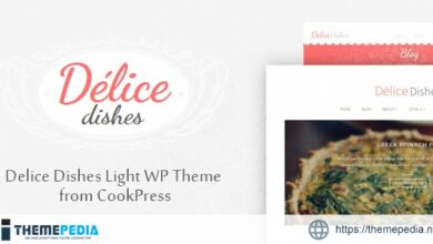 Delice Dishes Light WP Cook Theme • by CookPress [Free download]