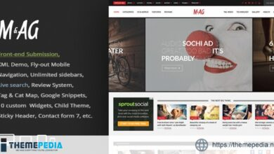 MAG = Grid Magazine – News WordPress Theme – Front-end Submission [Free download]
