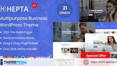 Hepta – Multipurpose Business WordPress Theme [Updated Version]