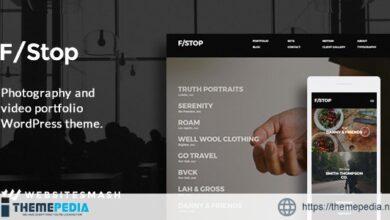 FStop – Photography & Video Portfolio WordPress Theme [Updated Version]