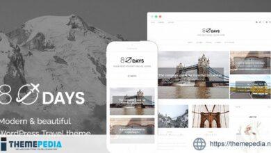 EightyDays – A WordPress Theme For Travel Blogs [Free download]