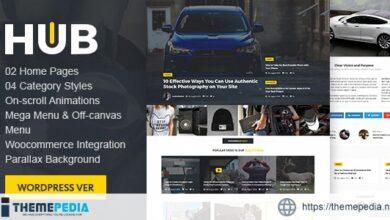 Hub Magazine WordPress theme [Free download]