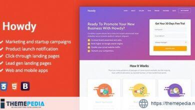 Howdy – Multipurpose High-Converting Landing Page WordPress Theme [Free download]