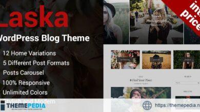 Laska – Stylish WordPress Blog Theme [Free download]