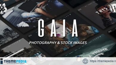 Gaïa – Photography and Stock Images WordPress Theme [Free download]