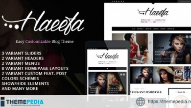 Haeefa – Easy Customizable Blog Theme [Free download]