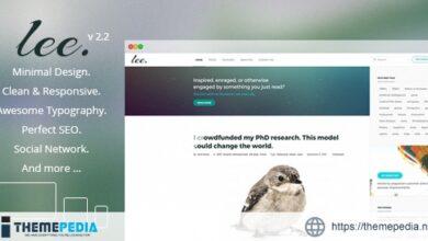 Lee Blog. Minimal and Creative WordPress Theme [Latest Version]