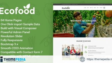 Ecofood – Responsive Organic Store & Farm WordPress Theme [Latest Version]