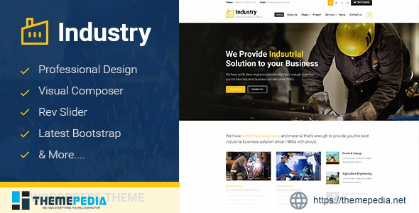 Industry – Factory Business WordPress Theme [Updated Version]