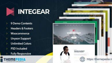 Integear – IT Company & Agency WordPress Theme [Updated Version]