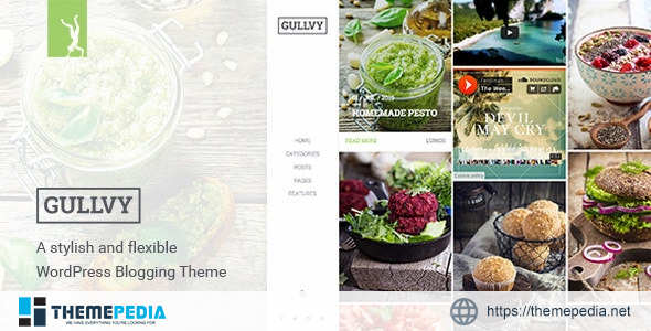 Gullvy – A stylish & flexible WordPress Blog Theme [Free download]