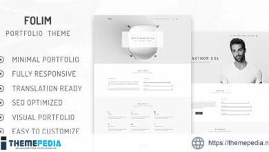 Folim Lite – Clean Minimalist Portfolio WordPress Theme [Free download]