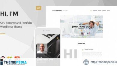 Hi, I'm – Responsive Resume – CV WordPress Theme [Free download]