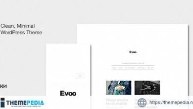 Evoo – WordPress Theme for Bloggers [Free download]