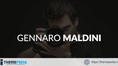 Gennaro Maldini Photography WordPress Theme [Free download]