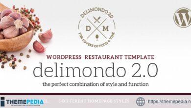 Delimondo 2.0 – 5 Styles Restaurant & Food WP Theme [Free download]