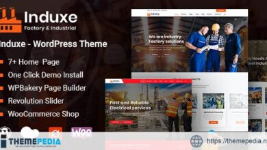 Induxe – Factory and Industry WordPress [Free download]
