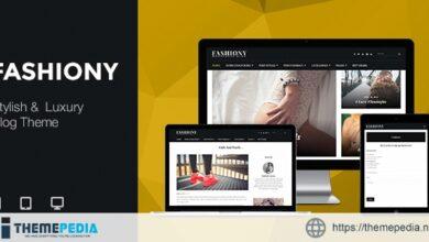 Fashiony – Stylish & Luxury Blog Theme [Free download]