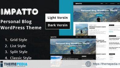 Impatto – Personal Blog WordPress Theme. [Free download]