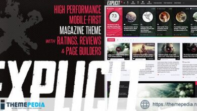 Explicit – High Performance Review-Magazine Theme [Free download]