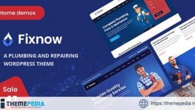Fixnow – A Perfect Plumbing WordPress Theme [Free download]