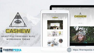 Cashew – A Personal Blog WordPress Theme [Latest Version]