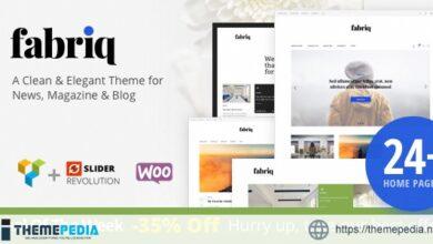 Fabriq – Personal WordPress Blog Theme [Free download]
