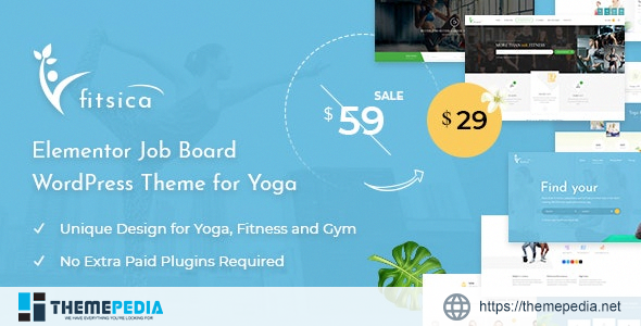 Fitsica – Yoga Jobboard WordPress Theme [Updated Version]