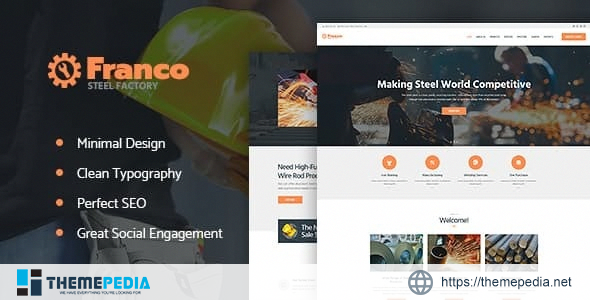 Franco – Steel Factory & Industrial Plant Manufactoring WordPress Theme [nulled]