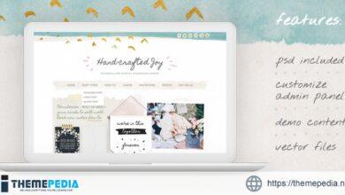 Hand-crafted Joy WordPress Theme [Free download]