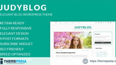 JudyBlog – Elegant Blog WordPress Theme [Latest Version]